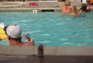 The other thing we love is that everyone drinks Coors Light. A most unmanly beer.