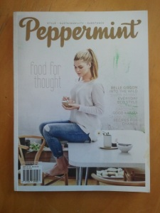 Here's Belle on the cover of Peppermint.
