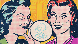 Talking babies at parties is much cooler than talking about bulimia.