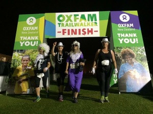 Angela Barnett Oxfam Finish