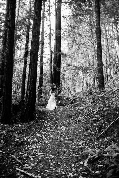 Angela Barnett Wedding Forest B&W