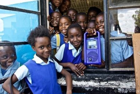 Zambian kids radio school